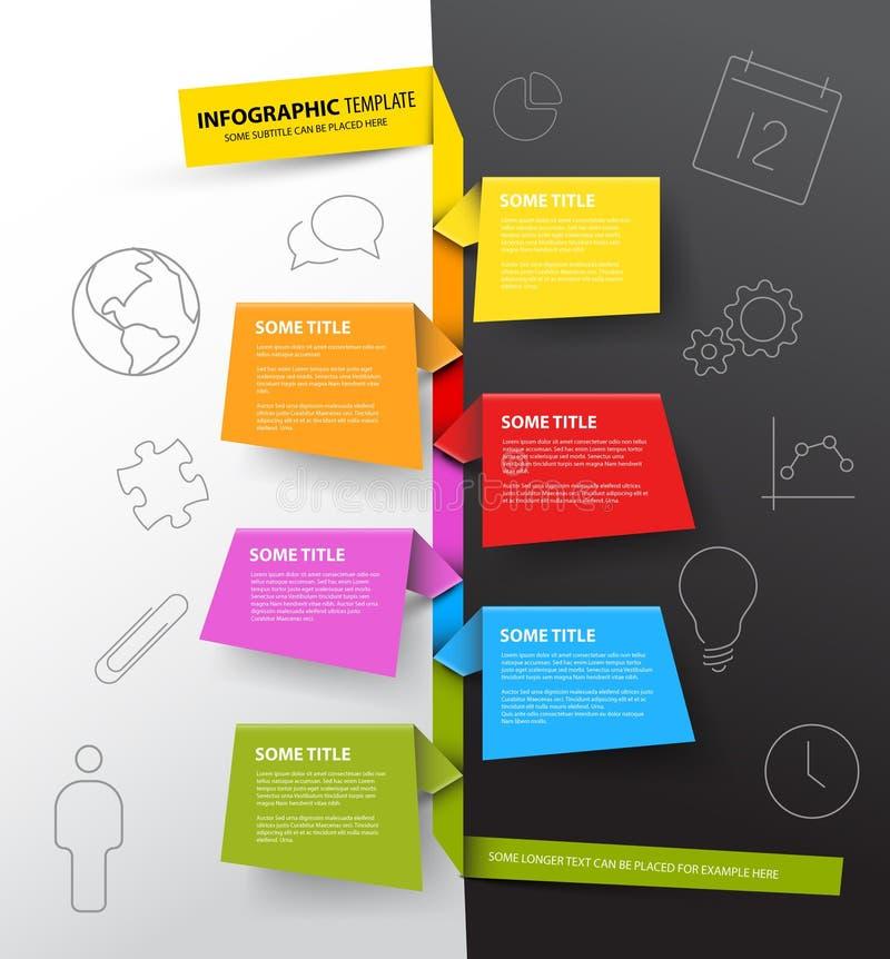 Calibre de rapport de chronologie d'Infographic fait à partir des papiers colorés illustration stock