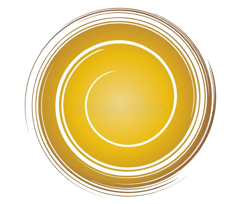 Calibre de remous d'or illustration de vecteur