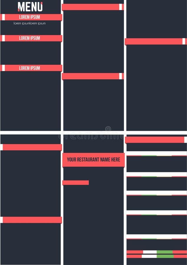 Calibre de restaurant de menu illustration stock