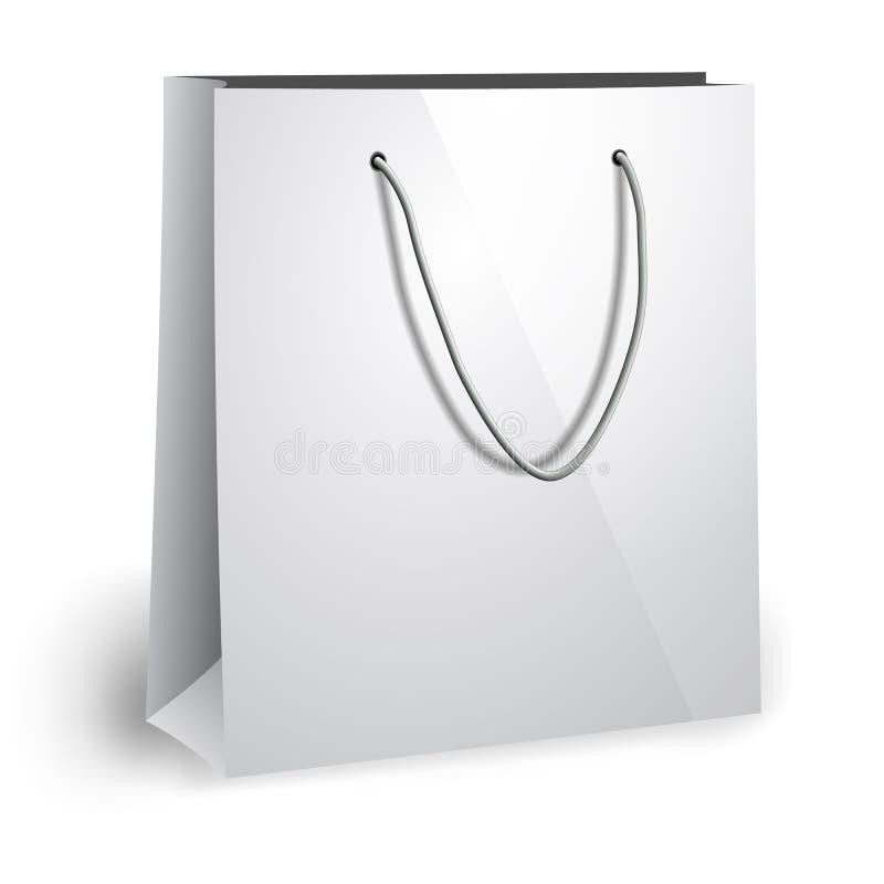 Calibre de sac de papier blanc illustration de vecteur