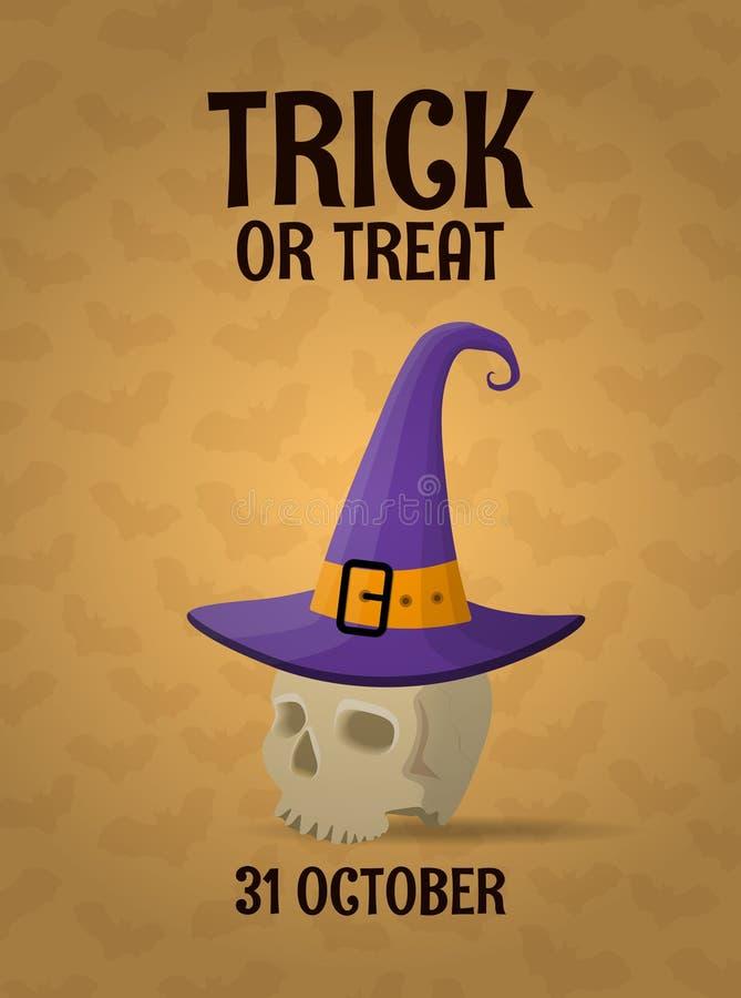 Calibre de salutation de Halloween illustration libre de droits