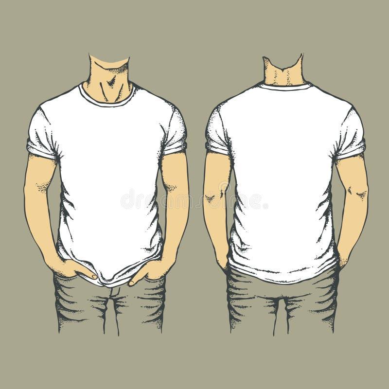 Calibre de T-shirt de vecteur illustration libre de droits