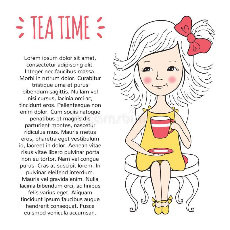 Calibre de temps de thé illustration libre de droits