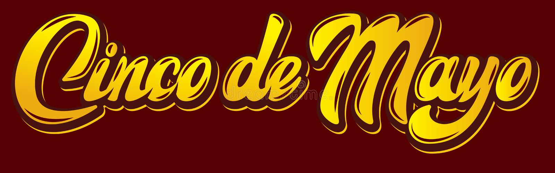 Calibre de vecteur avec le lettrage calligraphique pour la célébration Cinco de Mayo illustration stock