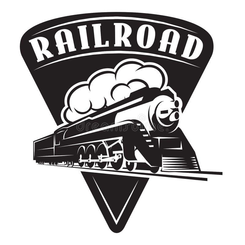 Calibre de vecteur avec une locomotive, train de cru illustration de vecteur