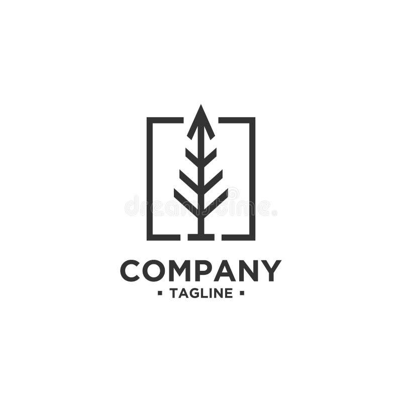 Calibre de vecteur de conception de logo d'arbre illustration libre de droits
