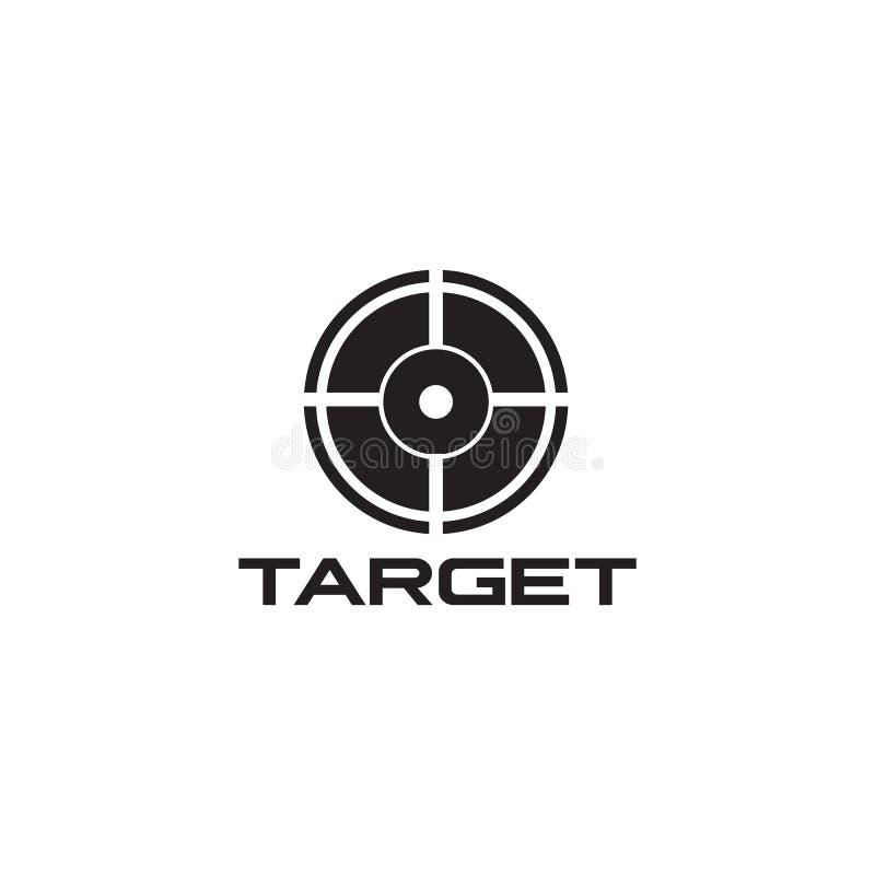 Calibre de vecteur de conception de logo d'icône de portée de cible illustration stock