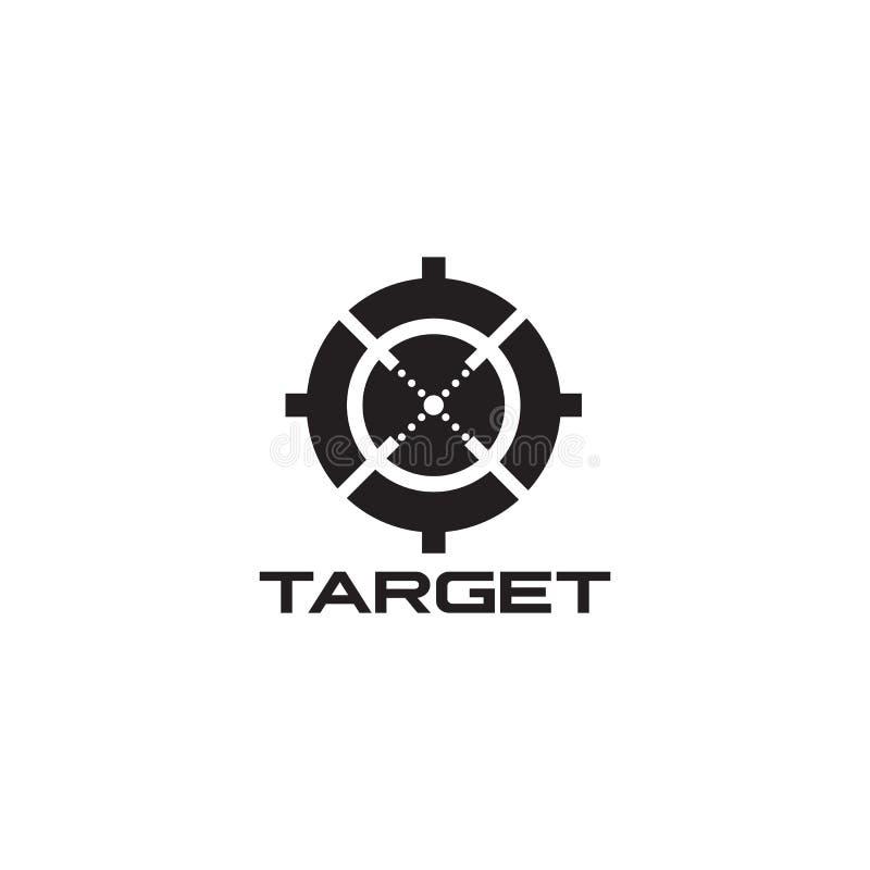 Calibre de vecteur de conception de logo d'icône de portée de cible illustration de vecteur