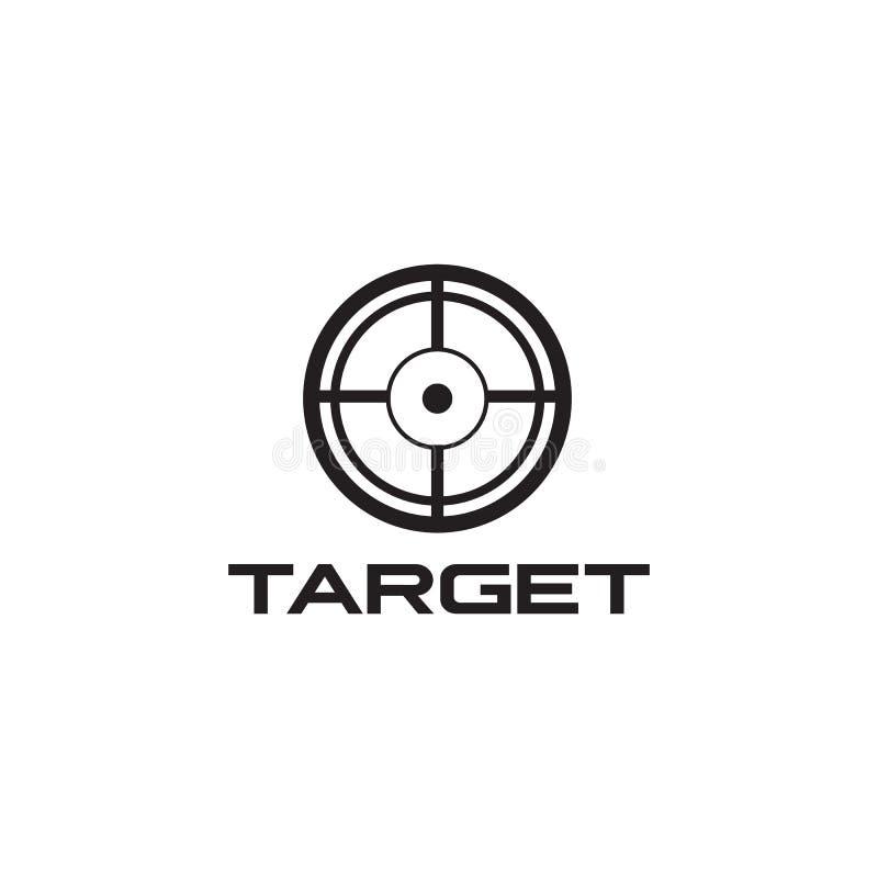 Calibre de vecteur de conception de logo d'icône de portée de cible illustration libre de droits