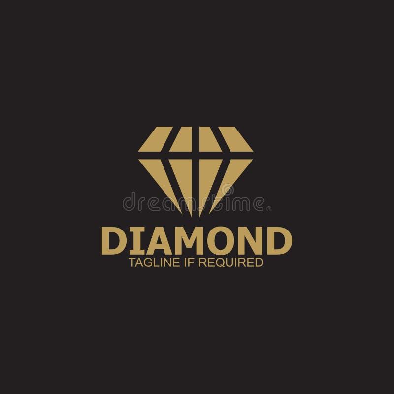Calibre de vecteur de conception de logo de diamant illustration stock