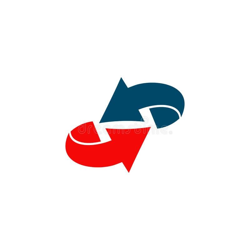 Calibre de vecteur de conception de logo de fl?che illustration de vecteur