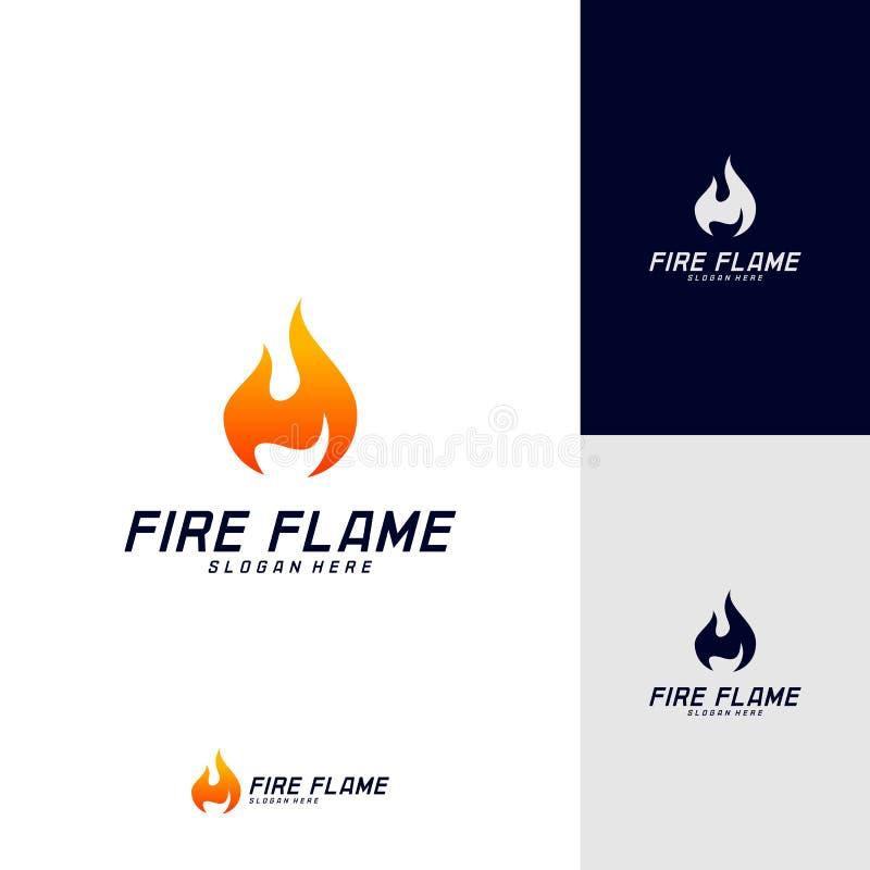 Calibre de vecteur de conception de logo de flamme du feu Symbole d'ic?ne illustration stock