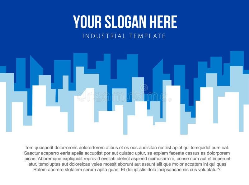 Download Calibre De Vecteur D'affiche Avec L'horizon Bleu De Ville Illustration de Vecteur - Illustration du abstrait, architecture: 87708070
