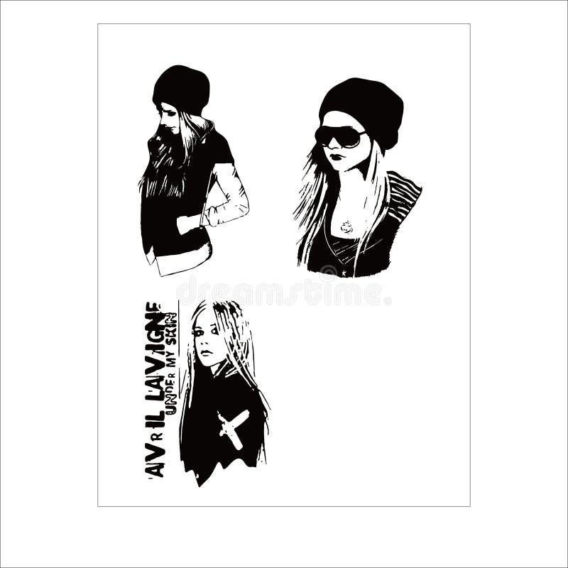 Calibre de vecteur d'Avril Lavigne illustration stock
