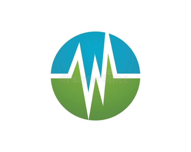 Calibre de vecteur d'icône de logo de soins de santé illustration stock