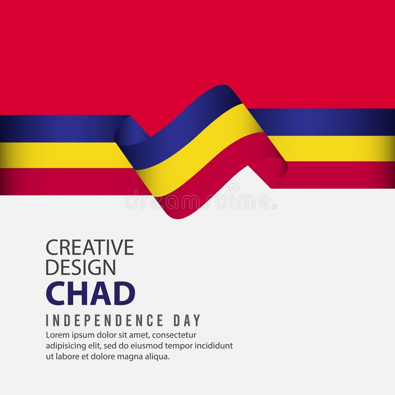 Calibre de vecteur d'illustration de conception de Chad Independence Day Celebration Creative illustration de vecteur