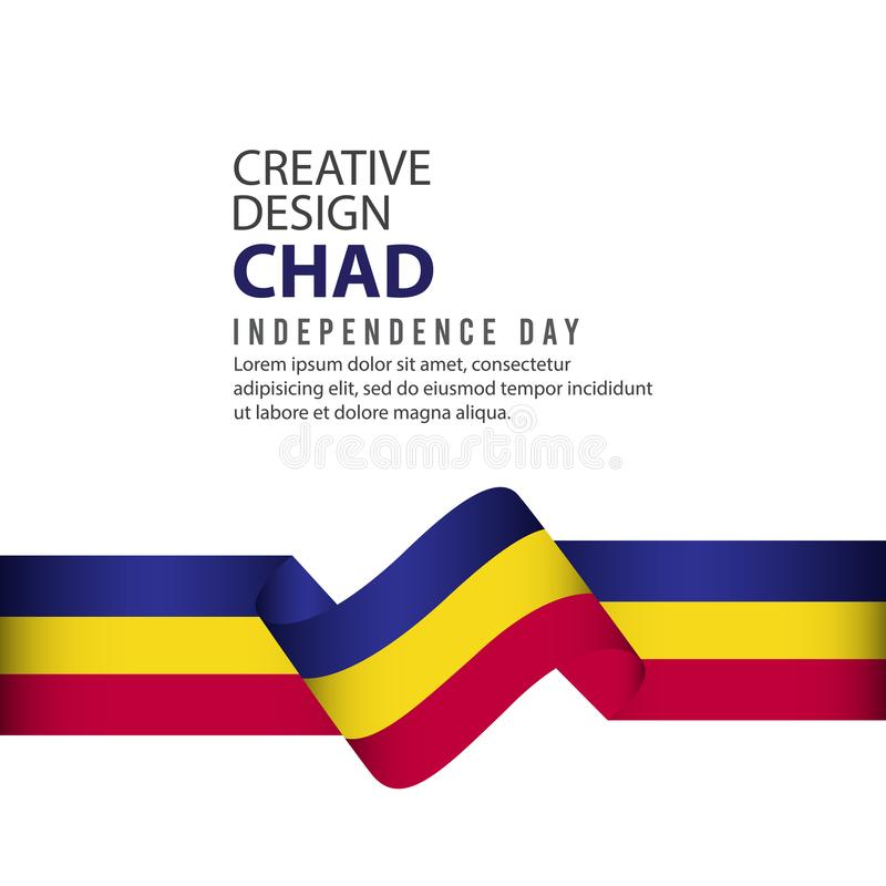 Calibre de vecteur d'illustration de conception de Chad Independence Day Celebration Creative illustration libre de droits