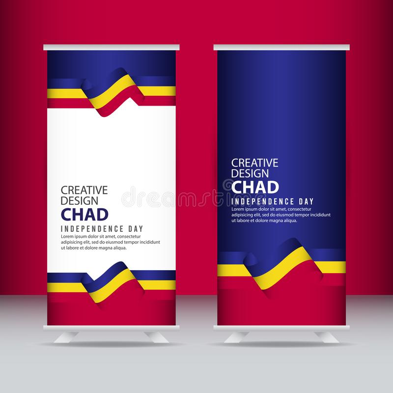 Calibre de vecteur d'illustration de conception de Chad Independence Day Celebration Creative illustration stock