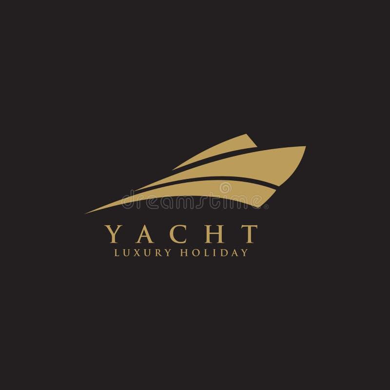 Calibre de vecteur d'inspiration de conception de logo de yacht illustration de vecteur
