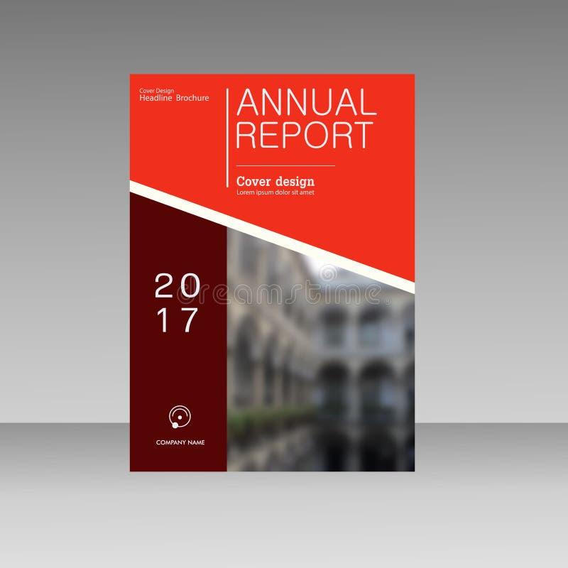 Calibre de vecteur de revue commerciale de rapport annuel  Présentation de livre de couverture dans la conception abstraite Fond  illustration libre de droits