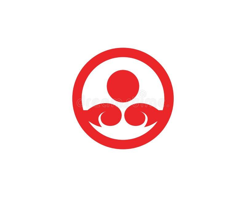 Calibre de vecteur de logo d'icône de boxe illustration libre de droits