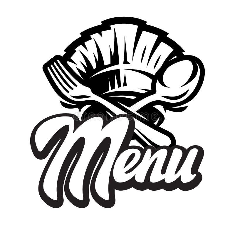 Calibre de vecteur pour un menu avec le lettrage calligraphique illustration de vecteur