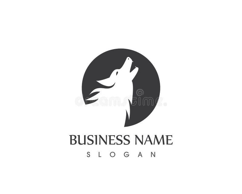 Calibre de vecteur de Wolf Head Silhouette Logo Design illustration de vecteur