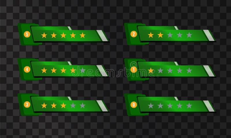 Calibre de vote d'étoile pour votre interface Descripteur de vecteur illustration stock