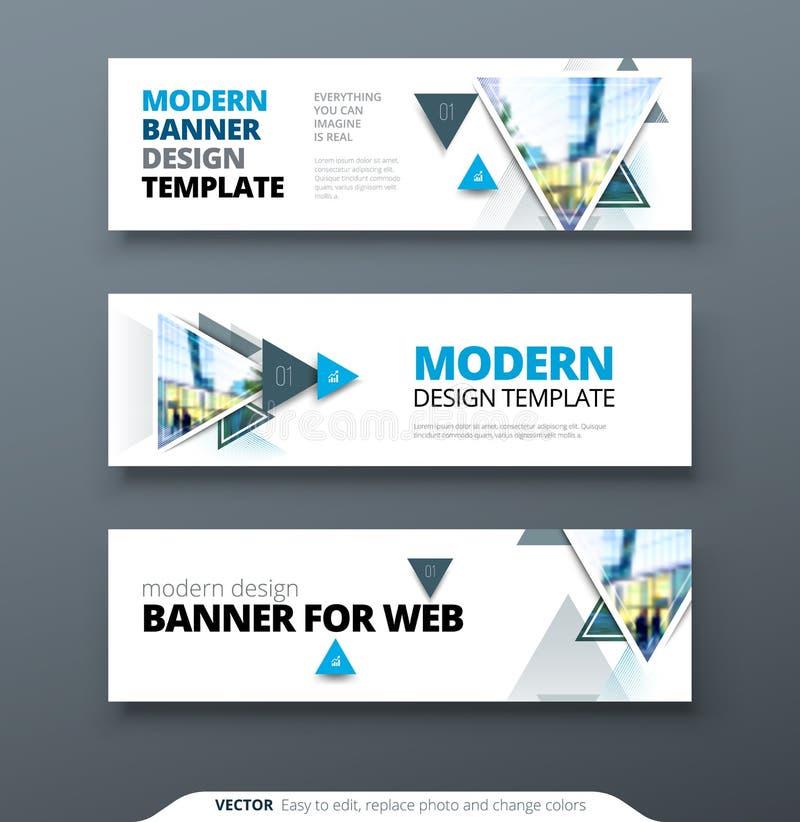 Calibre de Web de bannière de dessin géométrique d'abrégé sur vecteur de conception de bannière illustration stock