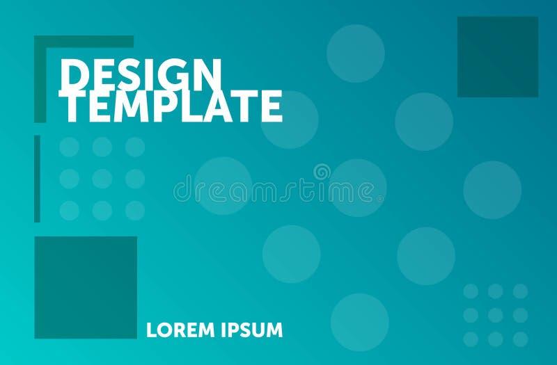Calibre de web design Fond g?om?trique minimal Composition abstraite color?e illustration stock