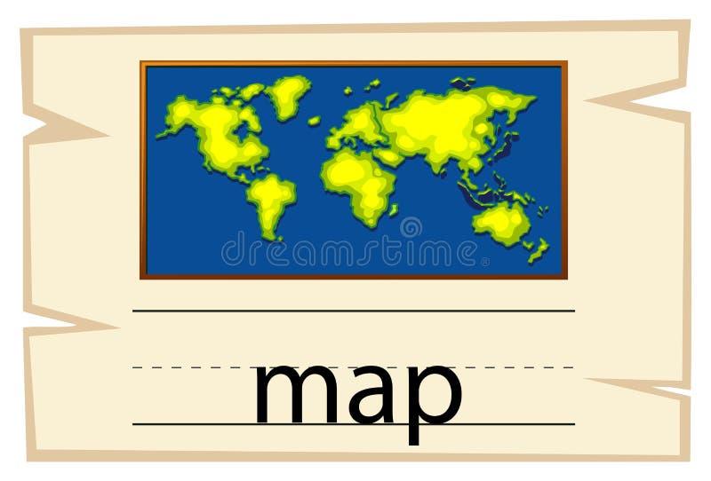 Calibre de Wordcard pour la carte de mot illustration libre de droits