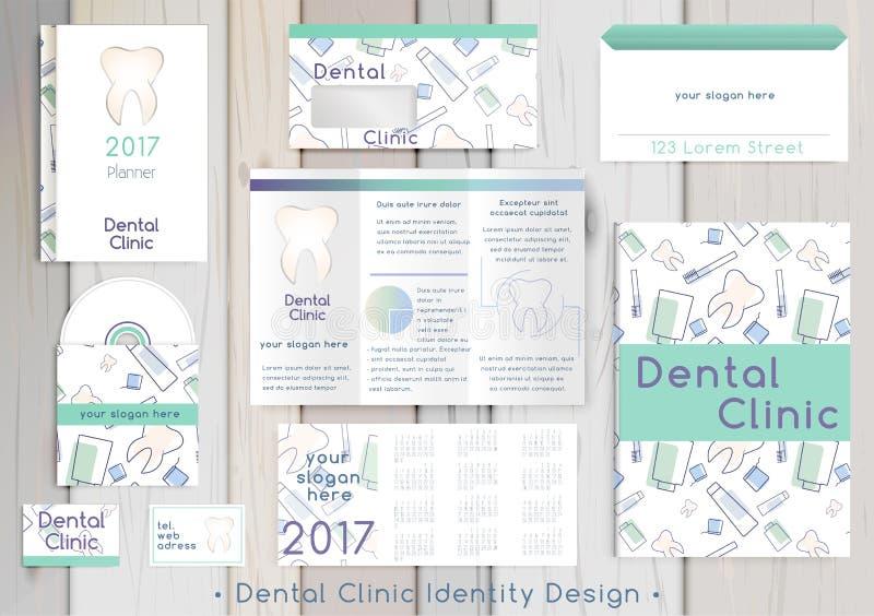 Calibre dentaire d'identité d'entreprise de clinique illustration de vecteur