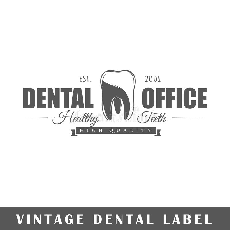Calibre dentaire de label illustration stock
