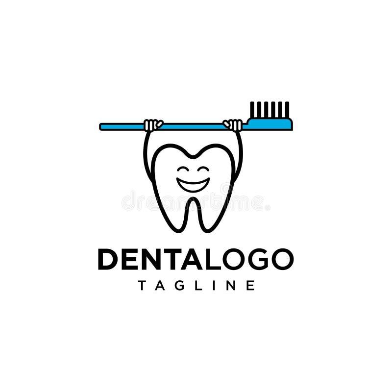 Calibre dentaire de vecteur de logo illustration stock