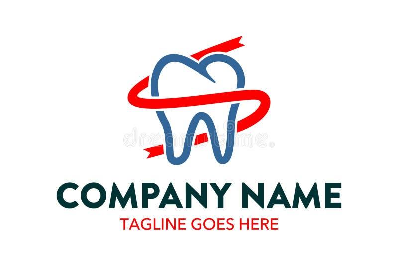 Calibre dentaire unique et original de logo illustration libre de droits