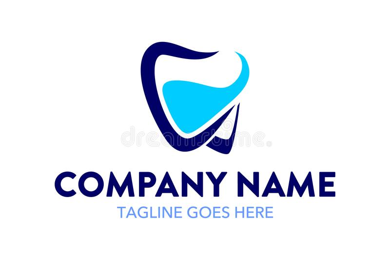 Calibre dentaire unique et original de logo illustration stock