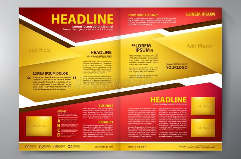 Calibre des pages a4 de la conception deux de brochure illustration stock