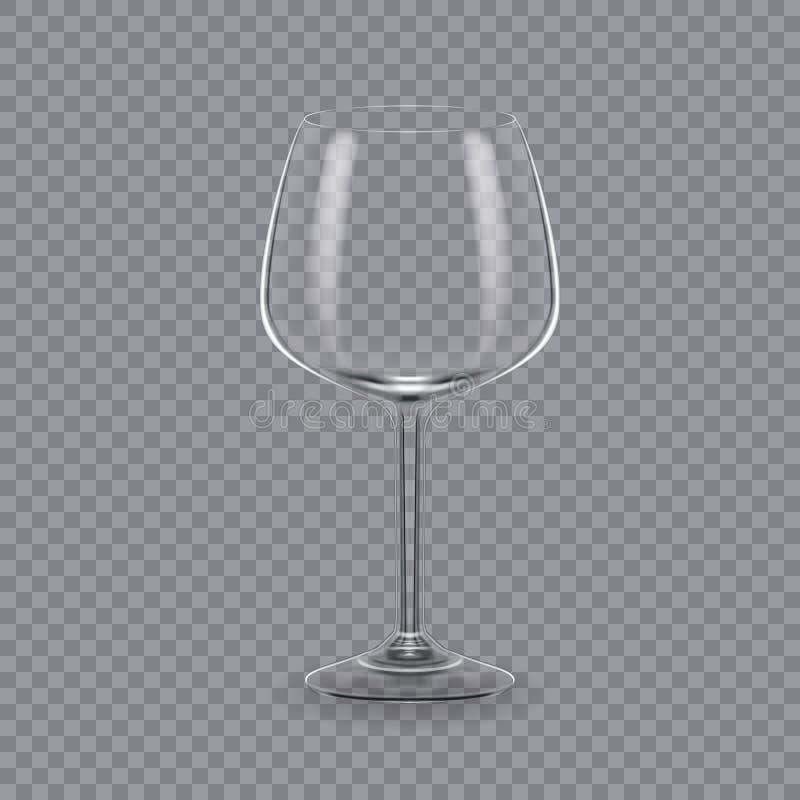 Calibre, disposition, planche à pain, verre vide, tasses, pour le vin de boissons illustration de vecteur