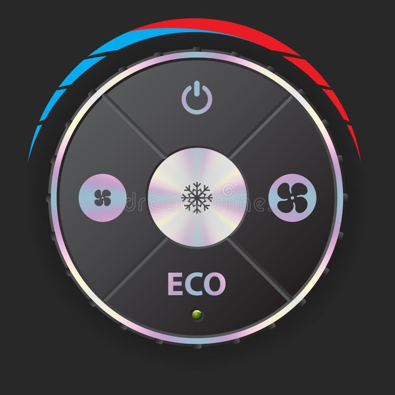 Calibre do condicionamento de ar com elementos metálicos ilustração stock