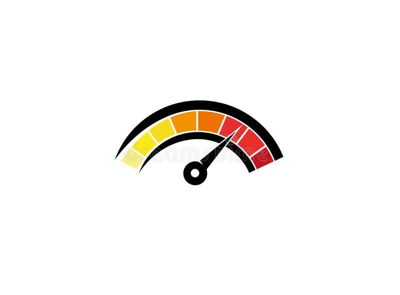 Calibre do velocímetro para o projeto do logotipo ilustração royalty free