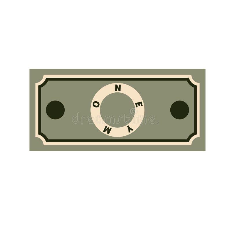 Calibre du billet de banque de papier sur le fond blanc Style plat illustration libre de droits