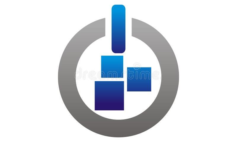 Calibre du bouton APP de puissance illustration libre de droits