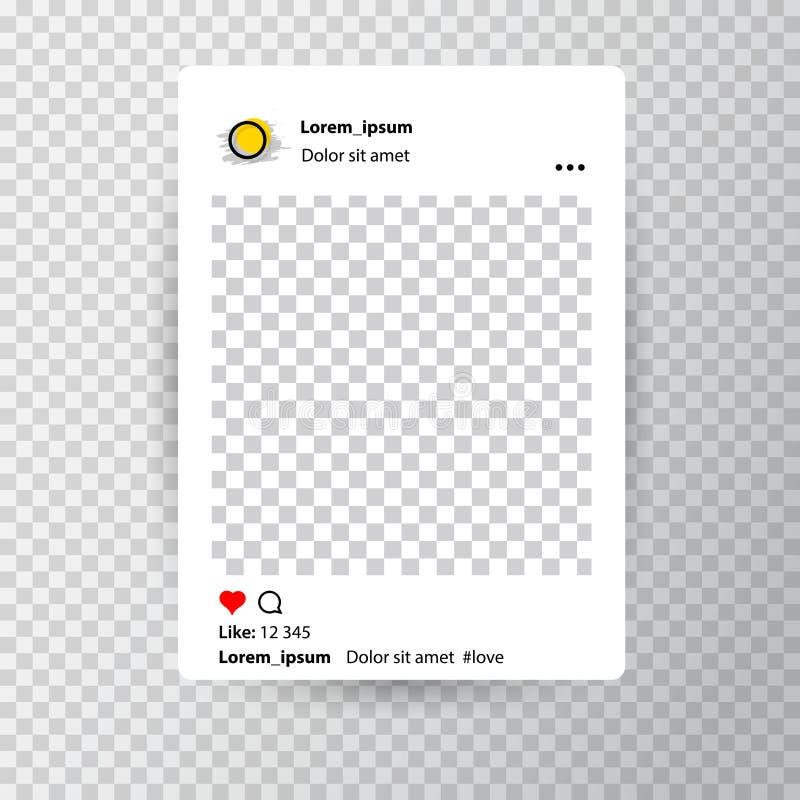 Calibre editable à la mode pour des histoires d'instagram sur un transparent illustration libre de droits