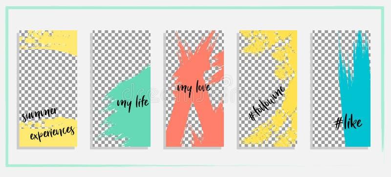 Calibre editable à la mode pour des histoires sociales de réseaux, histoire d'instagram, illustration de vecteur illustration stock