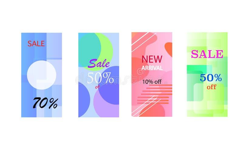 Calibre Editable commercial d'histoires d'Instagram Calibre pour le réseau social de media Vente illustration stock
