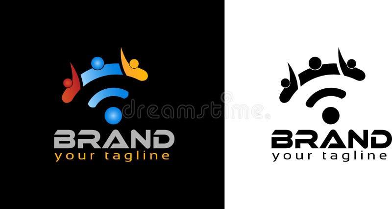 Calibre en ligne de logo de personnes, logo courant Illustration de vecteur images d'en voir plus connexes illustration stock
