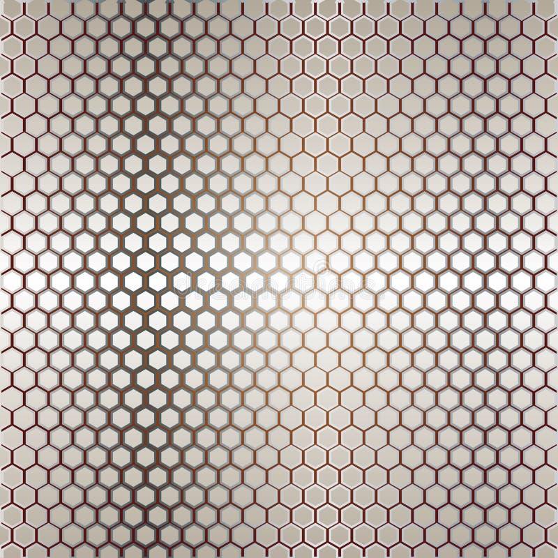 Calibre en métal avec la texture illustration stock