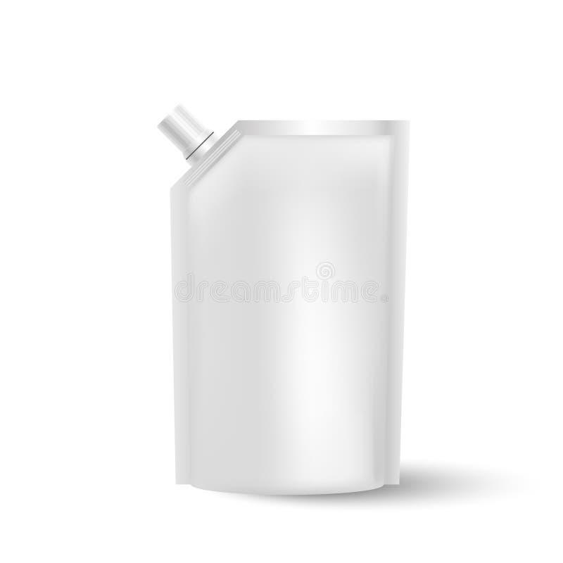 Calibre en plastique blanc de paquet, illustration de vecteur illustration stock