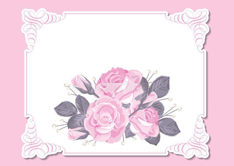 Calibre floral de carte d'invitation de mariage illustration libre de droits