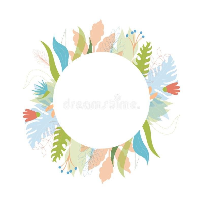 Calibre floral de carte de voeux de vecteur illustration libre de droits